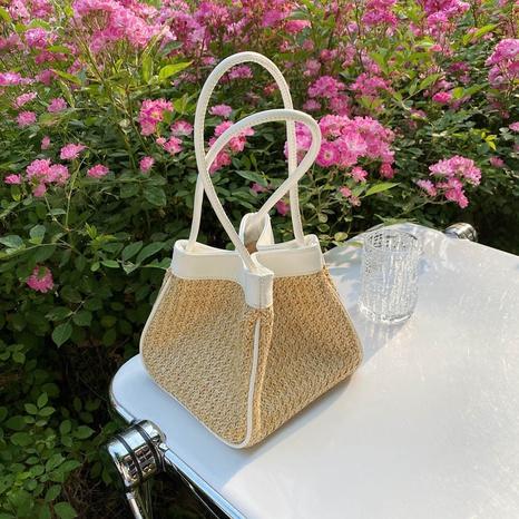 Sommermode Freizeit Stroh gewebte Handtasche NHJZ362855's discount tags