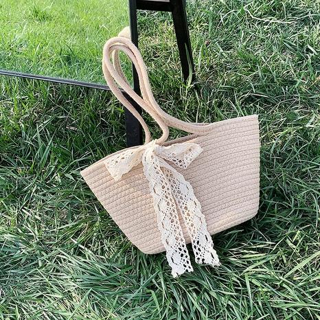 vente en gros sac fourre-tout en paille à une épaule à la mode NHAV360565's discount tags