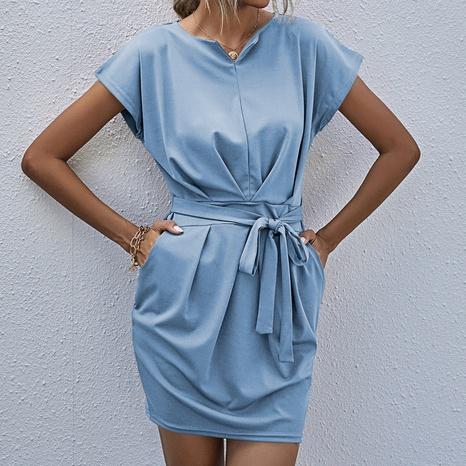 robe simple à taille unie en gros NHZN364710's discount tags