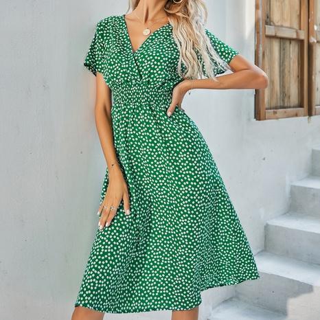 robe à fleurs verte de mode en gros NHZN364709's discount tags