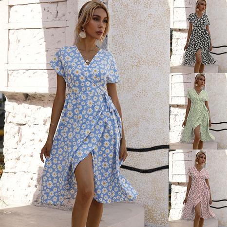 fashion new waist printing slit dress wholesale  NHJC364703's discount tags