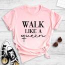 casual English letter print short sleeve Tshirt NHZN364676