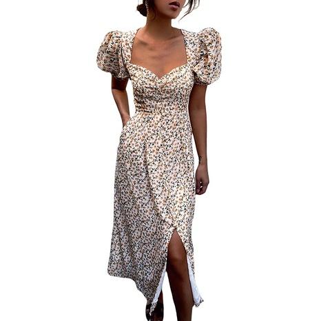 mode nouvelle petite robe fendue florale en gros NHJG364659's discount tags