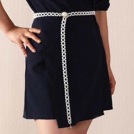 simple flower pearl thin waist chain  NHNZ363057's discount tags