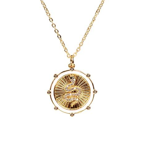 Collier serpent coréen serti de diamants NHPY363158's discount tags