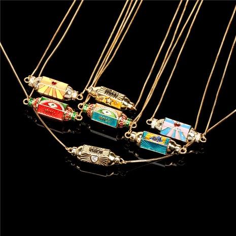 Collier pendentif oeil zircon couleur dégoulinant d'huile de mode NHPY363277's discount tags