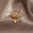 personality fashion love flash diamond open ring   NHXI363429