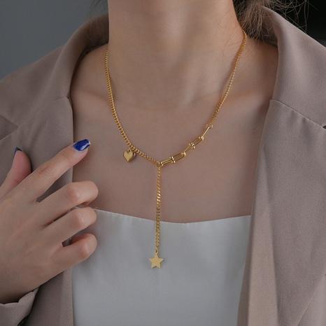 collier pendentif étoile à cinq branches NHHF363490's discount tags