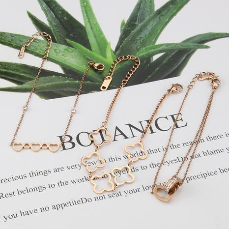 bracelet en acier au titane de chaîne d'amour de papillon de mode NHBP363532's discount tags