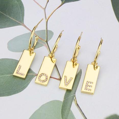 boucles d'oreilles simples en lettres brillantes serties de diamants NHBP363539's discount tags