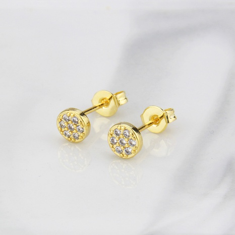 boucles d'oreilles rondes simples en zirconium incrusté NHBP363557's discount tags