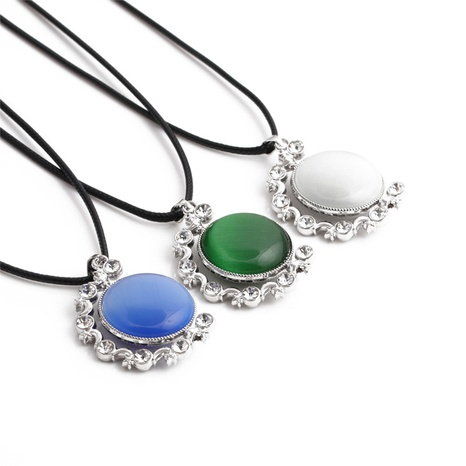 Mode Naturstein Anhänger Halskette NHYL363575's discount tags