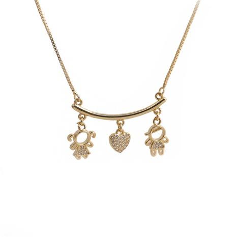 Collier pendentif fantaisie en cuivre micro incrusté de zircon NHYL363607's discount tags