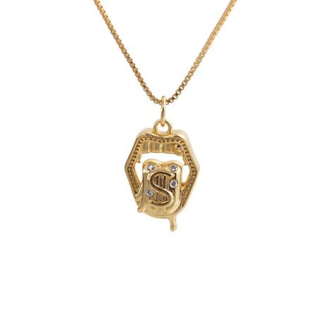 Collier en cuivre à pendentif géométrique à la mode NHYL363608's discount tags
