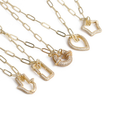 collier pendentif croix palmier simple NHYL363609's discount tags