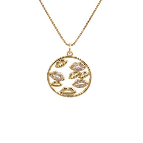 Collier Pendentif Géométrique Zircon Fashion NHYL363620's discount tags