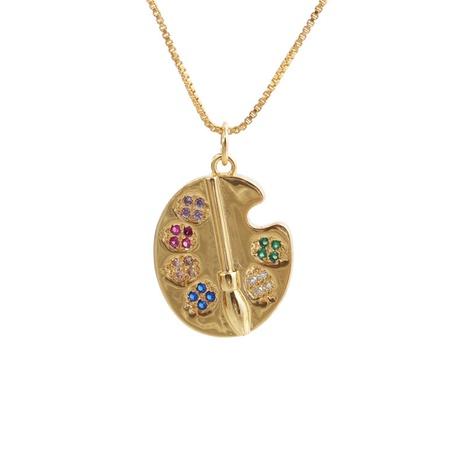 Collier pendentif géométrique irrégulier en zircon à la mode NHYL363621's discount tags