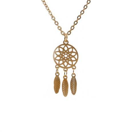 Collier pendentif pompon en acier au titane NHYL363624's discount tags