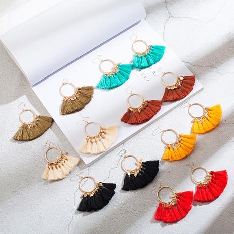 bohemian exaggerated fashion long tassel earrings wholesale NHAKJ363647's discount tags