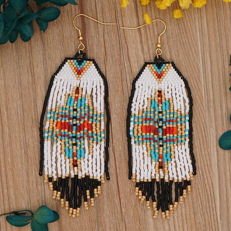Bohemian personalized handmade miyuki beads tassel earrings wholesale NHYUX363658's discount tags
