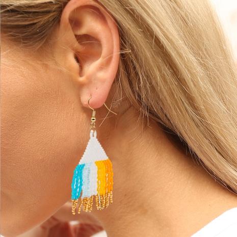 Bohemia miyuki bead woven tassel long earrings NHYUX363660's discount tags