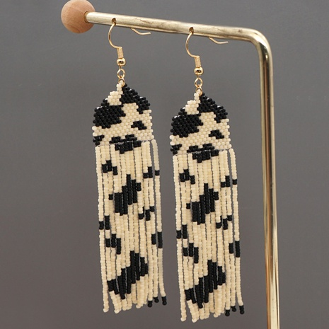Vintage Personality Fashion Handmade Beaded Tassel Earrings  NHYUX363665's discount tags
