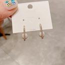 Korean square geometric pearl earrings  NHCG363714