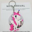 cute cartoon color unicorn pendant keychain  NHDI363732