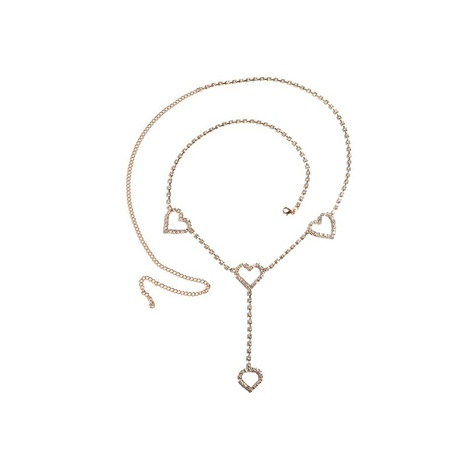 Fashion Rhinestone Heeart Waist Chain  NHCU363793's discount tags