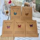 Bohemian fashion butterfly pendant alloy necklace set  NHPJ363807