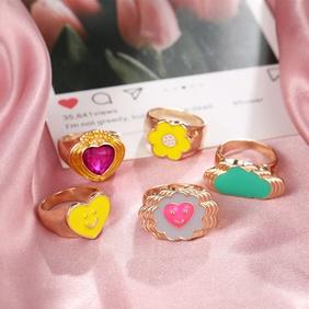 fashion cute fun heart- shape ring  NHYI363821