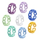 fashion hollow candy color twist bracelet ring NHYI363825