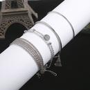 simple smooth tassel multilayer 4piece set NHCU363845