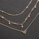 fashion multilayer star pendant necklace NHCU363847