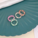 simple geometric candy color heart acrylic ring NHBW363872