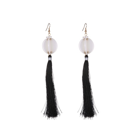 Fashion Acrylic Lantern Long Tassel Earrings  NHTF364064's discount tags