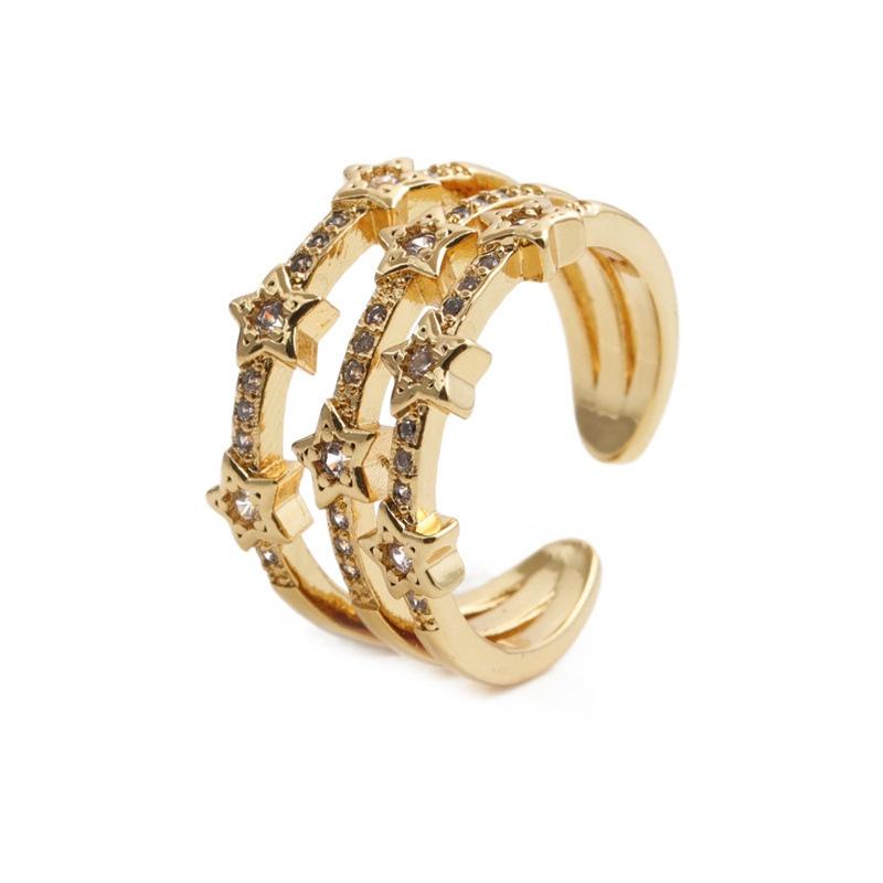 simple star diamondset zircon ring NHYL364241