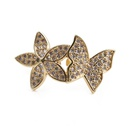 Simple micro diamond butterfly opening adjustable ring NHYL364285