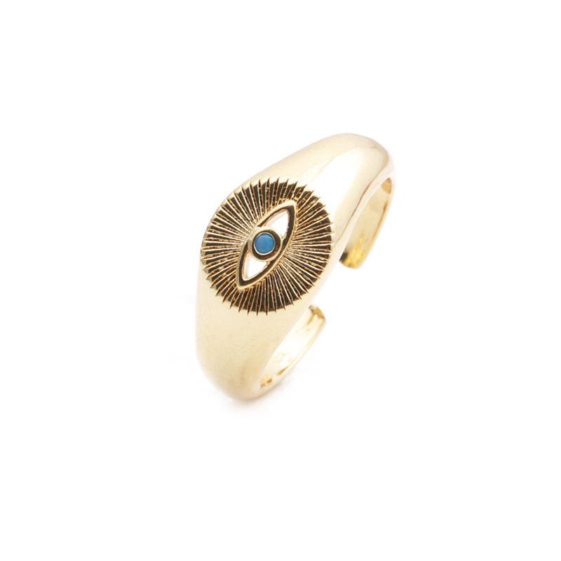 Retro inlaid zircon eye ring  NHYL364376