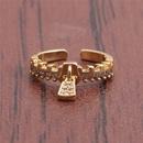 Retro zircon zipper open ring  NHYL364378