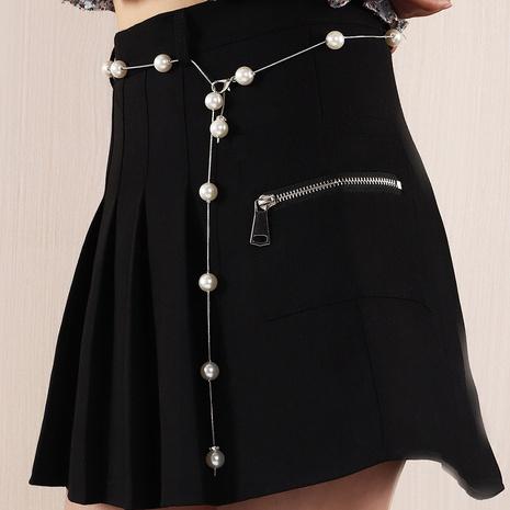 Simple Imitation Pearl Beaded Waist Chain  NHNZ364380's discount tags