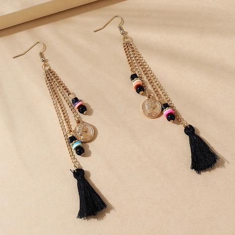ethnic style Roman head tassel earrings wholesale  NHPS364546's discount tags