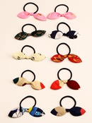 simple fabric bow childrens hair rope wholesale  NHNU365887