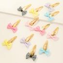 new fabric bow childrens hairpin set  NHNU365885