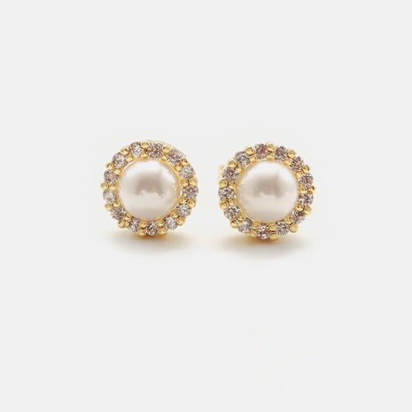 pendientes de perlas de circonita de estilo retro al por mayor NHWV358581's discount tags