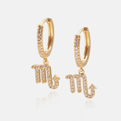 classic fashion inlaid zircon constellation earrings wholesale  NHWV358585's discount tags