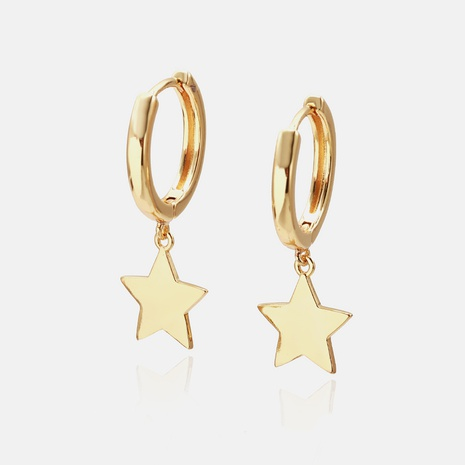 fashion gold-plated star earrings wholesale NHWV358601's discount tags