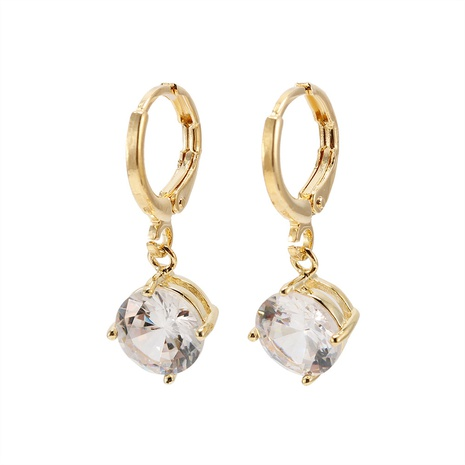 fashion simple four-claw zircon earrings wholesale   NHWV358602's discount tags