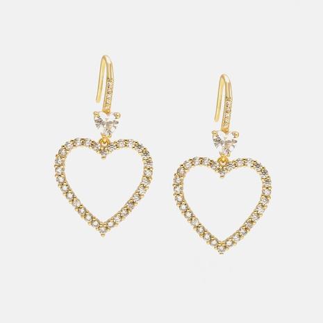 fashion hollow heart-shaped earrings NHWV358619's discount tags