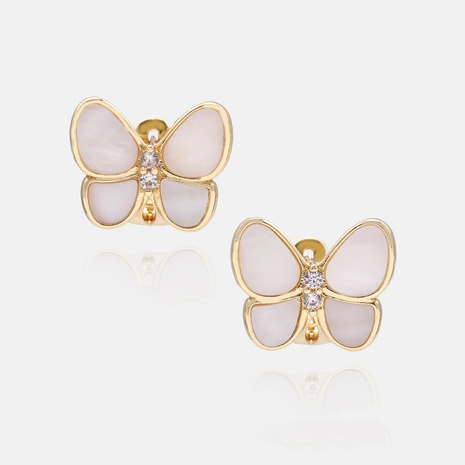 fashion retro butterfly copper earrings wholesale NHWV358632's discount tags